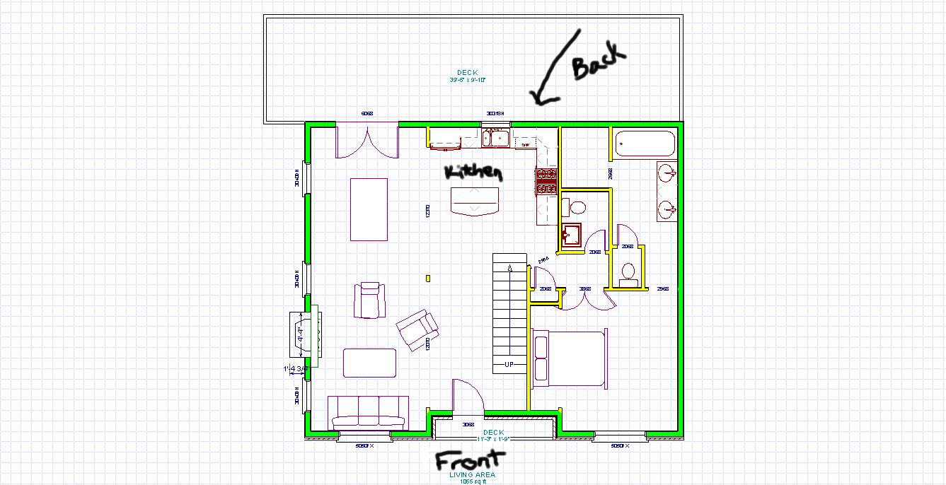 The Remodel Plan for the House   Creative NotionsMy husband has an architectural program that we    ve been using to plan everything out