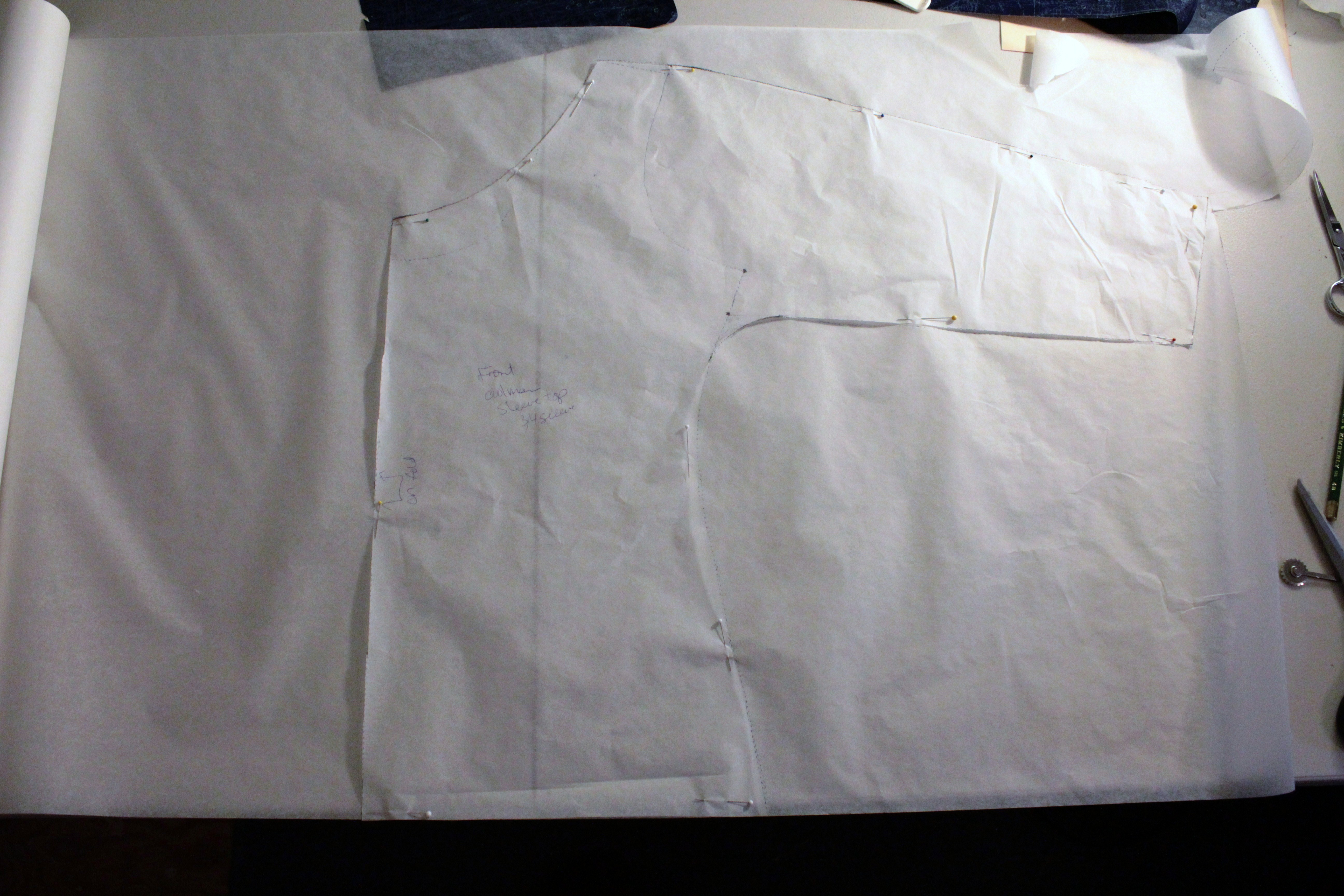 Trace both the front and back pieces