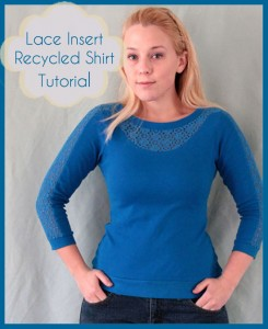 Lace Insert Shirt Tutorial