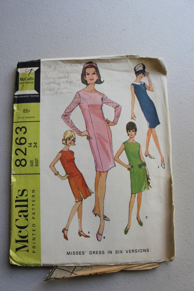 McCall's 8263 from 1966, size 14, bust 34.