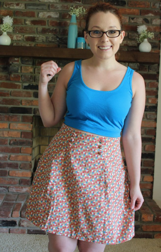 Deer&Doe Anemone skirt made from vintage napkins